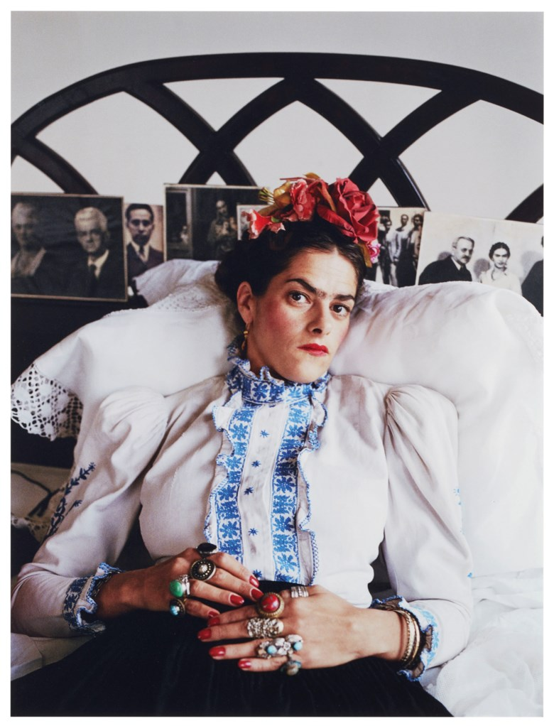 Mary McCartney (b. 1969), Tracey as Frida, photographed in 2000 and printed in 2007, this work is number two from an edition of ten. Sheet 40 x 30 in (101.6 x 76.2 cm). Estimate £3,000-5,000. This lot is offered in The George Michael Collection Evening Auction on 14 March 2019 at Christie's in London