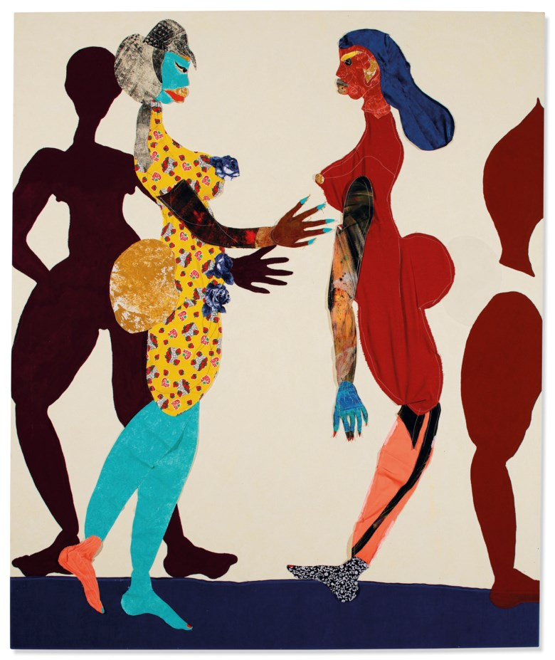 Tschabalala Self (b. 1990), Out of Body, executed in 2015. 72 x 60 in (182.9 x 152.4 cm). Sold for £371,250on 25 June 2019 at Christie's in London