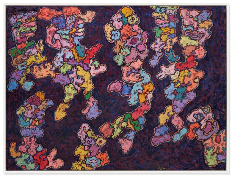 Jean Dubuffet (1901-1985), Cérémonie (Ceremony), painted in November 1961. 64⅞ x 86⅝ in (164.7 x 220 cm). Sold for £8,718,750on 25 June 2019 at Christie's in London
