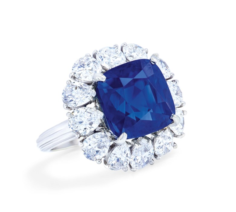 Important sapphire and diamond ring, Cartier, Gübelin, 2019, report no. 19070025 12.65 carats, Kashmir, no indications of heating. Estimate CHF 700,000-1,000,000. Offered in Magnificent Jewels  on 12 November 2019 at Christie's in Geneva