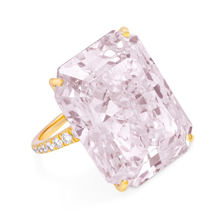 Rare coloured diamond and diamond ring, GIA, 2019, report no. 2181741920 32.49 carats, fancy light purplish pink colour, VS2 clarity. Estimate CHF 1,700,000-2,200,000. Offered in Magnificent Jewels  on 12 November 2019 at Christie's in Geneva
