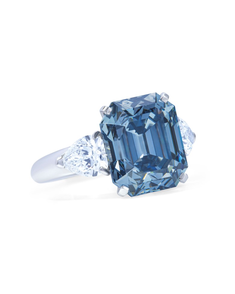 Exceptional coloured diamond and diamond ring, Moussaieff, GIA, 2019, report no. 6203146718 7.03 carats, fancy deep blue colour, VVS2 clarity, type IIB. Estimate CHF 10,000,000-14,000,000. Offered in Magnificent Jewels  on 12 November 2019 at Christie's in Geneva
