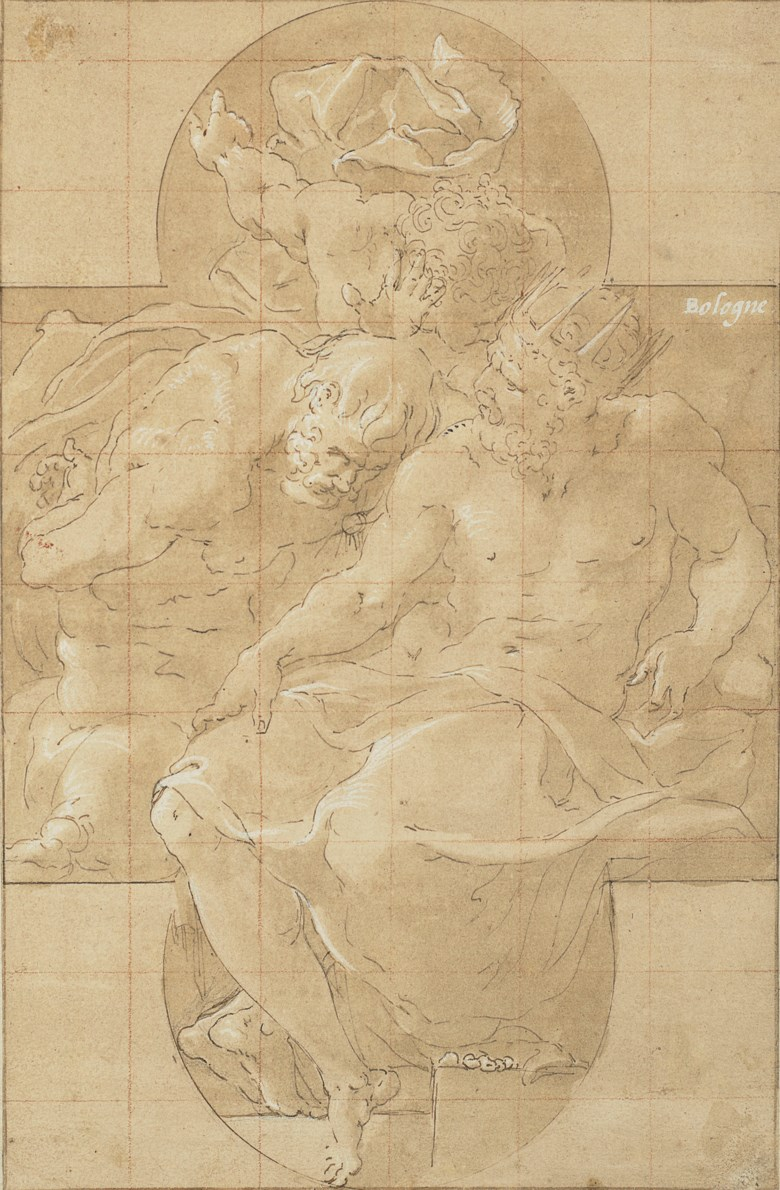 Francesco Primaticcio (Bologna 1504-1570 Paris), Polymestor killing Polydorus (or King Priam and Sinon). 10 x 6½  in (25.3 x 16.4 cm). Sold for $187,500 on 31 January 2019 at Christie's in New York