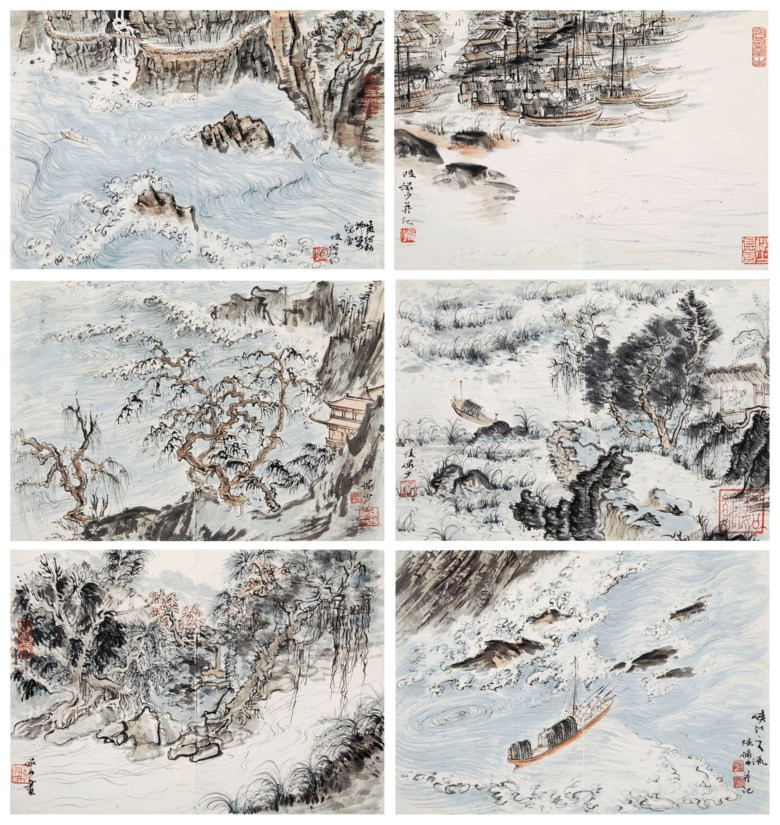Lu Yanshao (1909-1993), Poetic Images of the Tang Dynasty. Each leaf measures 8¼ x 11  in (21 x 28  cm). Estimate $60,000-100,000. This lot is offered in Fine Chinese Paintings on 19 March 2019 at Christie's in New York