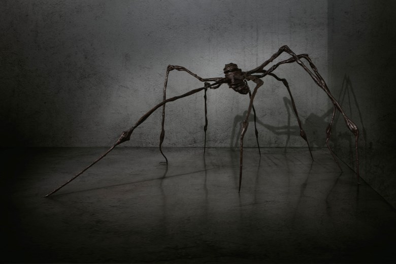 Louise Bourgeois (1911-2010), Spider, conceived in 1996, cast in 1997. This work is number two from an edition of six with one artists proof and one unique bronze variant, plus one unique sculpture in steel. Bronze. 128 ½ x 298 x 278  in (326.3 x 756.9 x 706.1  cm). Sold for $32,055,000 on 15 May 2019 at Christie's in New York