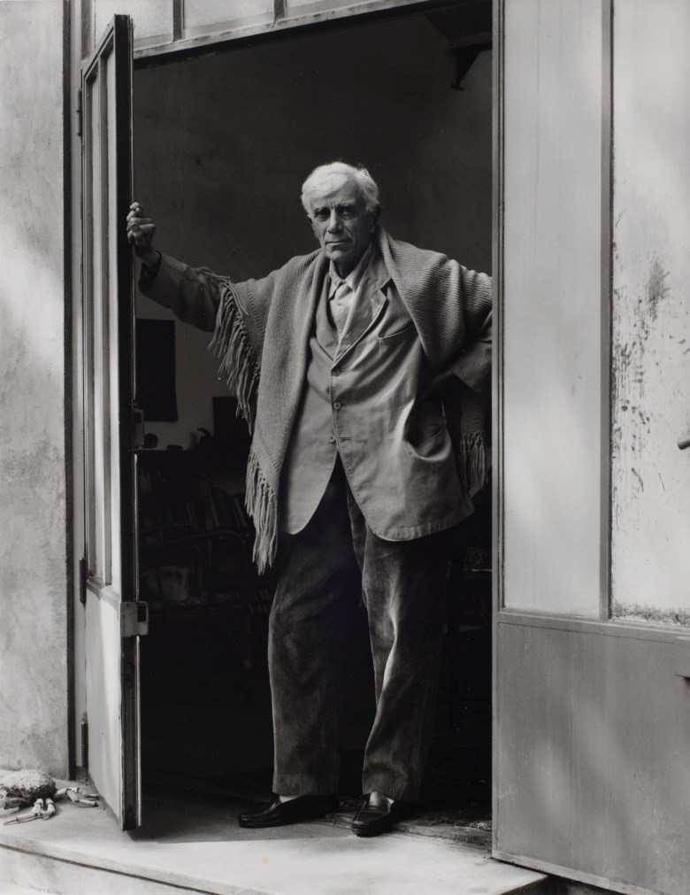 Paul Strand (1890-1976), Georges Braque, Varangéville, France, 1957. Sheetflush mount 9⅞ x 7¾  in (25 x 19.6  cm). Estimate $8,000-12,000. This lot is offered in Photographs on 2 April 2019 at Christie's in New York