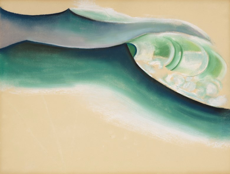 Georgia OKeeffe (1887-1986), Wave, 1922. Pastel on paper. 19 x 25 in (48.3 x 63.5 cm). Estimate $400,000-600,000. Offered in American Art on 22 May 2019 at Christie's in New York