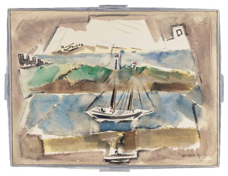 John Marin (1870-1953), Small Point, Maine, 1931. 22½ x 28  in (57.2 x 71.1  cm). Estimate $100,000-150,000. Offered in American Art on 22 May 2019 at Christie's in New York