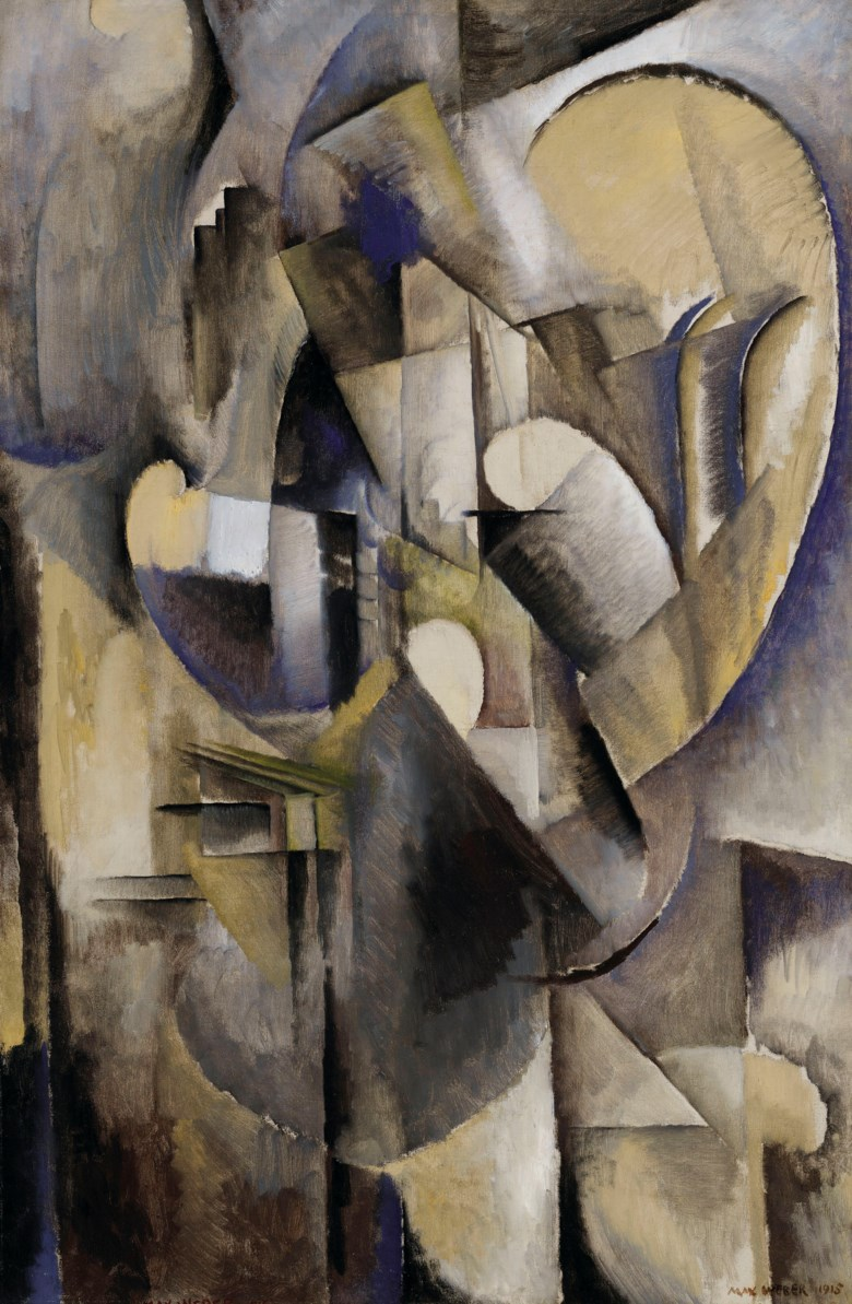 Max Weber (1881-1961), Interior with Music, 1915. 58½ x 38½  in (148.6 x 97.8  cm). Estimate $600,000-800,000. Offered in American Art on 22 May 2019 at Christie's in New York