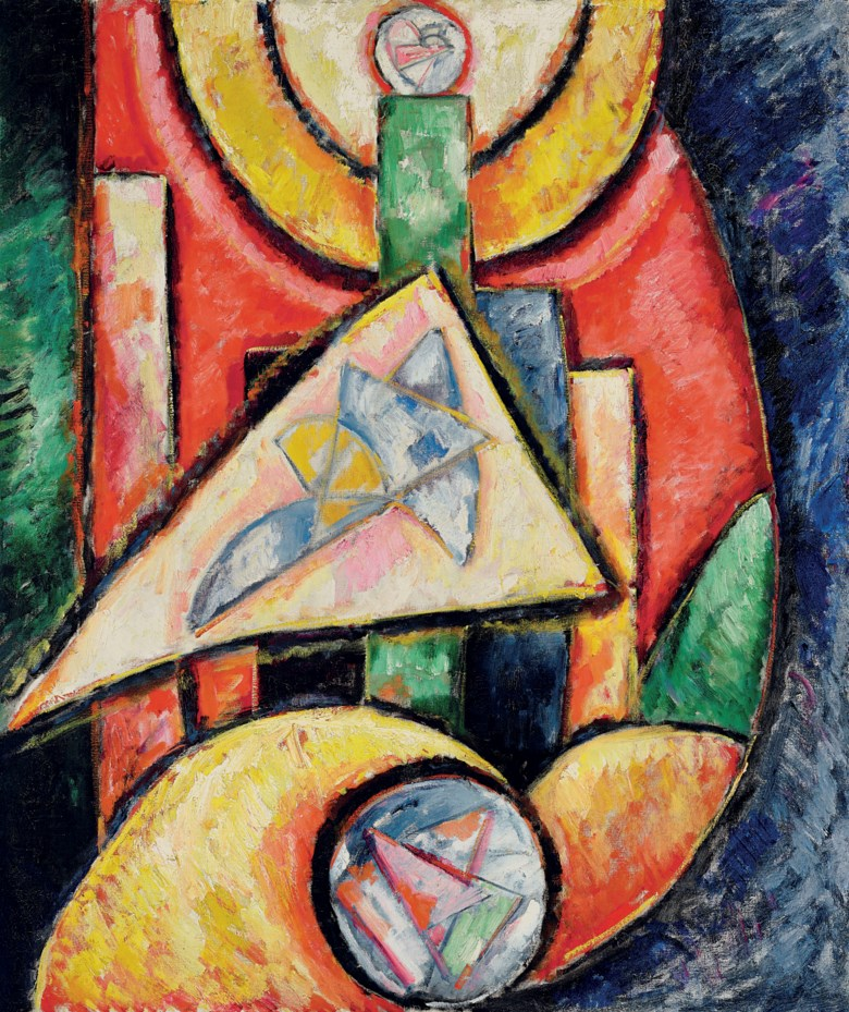 Marsden Hartley (1877-1943), Abstraction, 1912-13. 46½ x 39¾  in (118.1 x 101  cm). Estimate $4,000,000-6,000,000. Offered in American Art on 22 May 2019 at Christie's in New York
