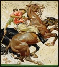Polo Players on Horseback