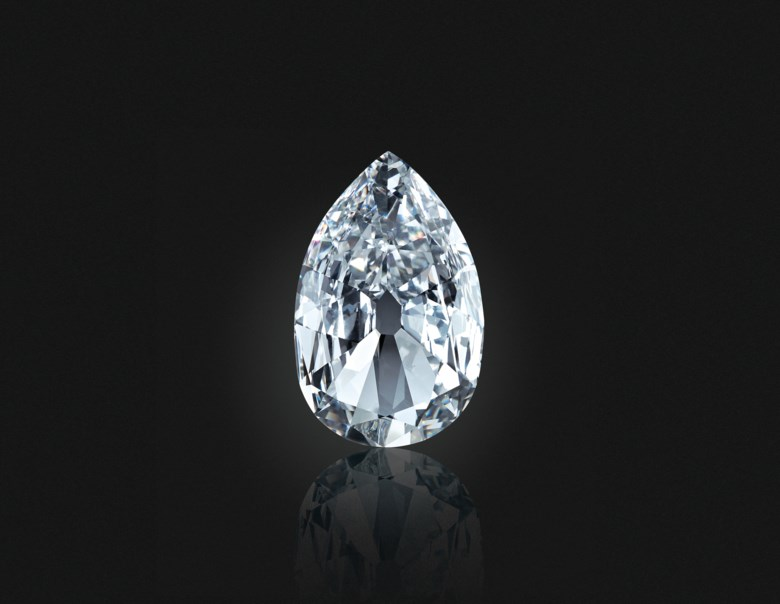 The Arcot II' diamond, 17.21 carats, D colour, internally flawless clarity. Sold for $3,375,000 on 19 June 2019 at Christie's in New York