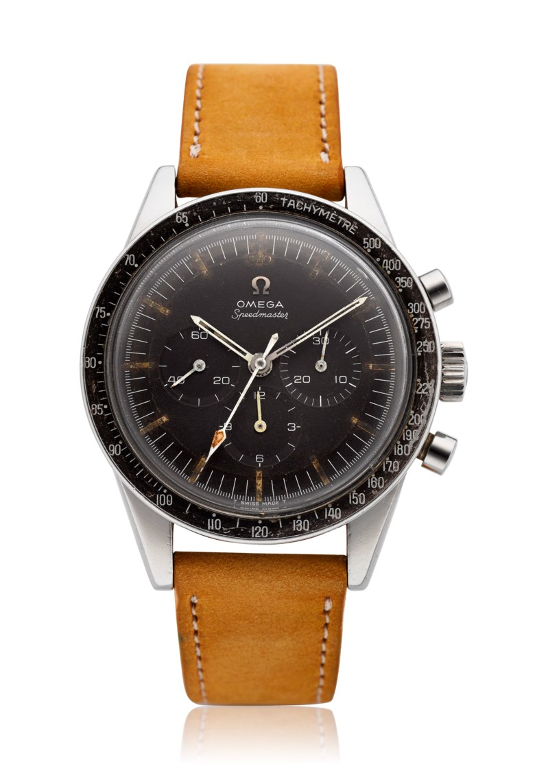 Omega, Speedmaster 'Ed White', ref. ST 105.003. Estimate $8,000-12,000. Offered in Christie's Watches Online The Keystone Collection, 30 July to 13 August 2019, Online