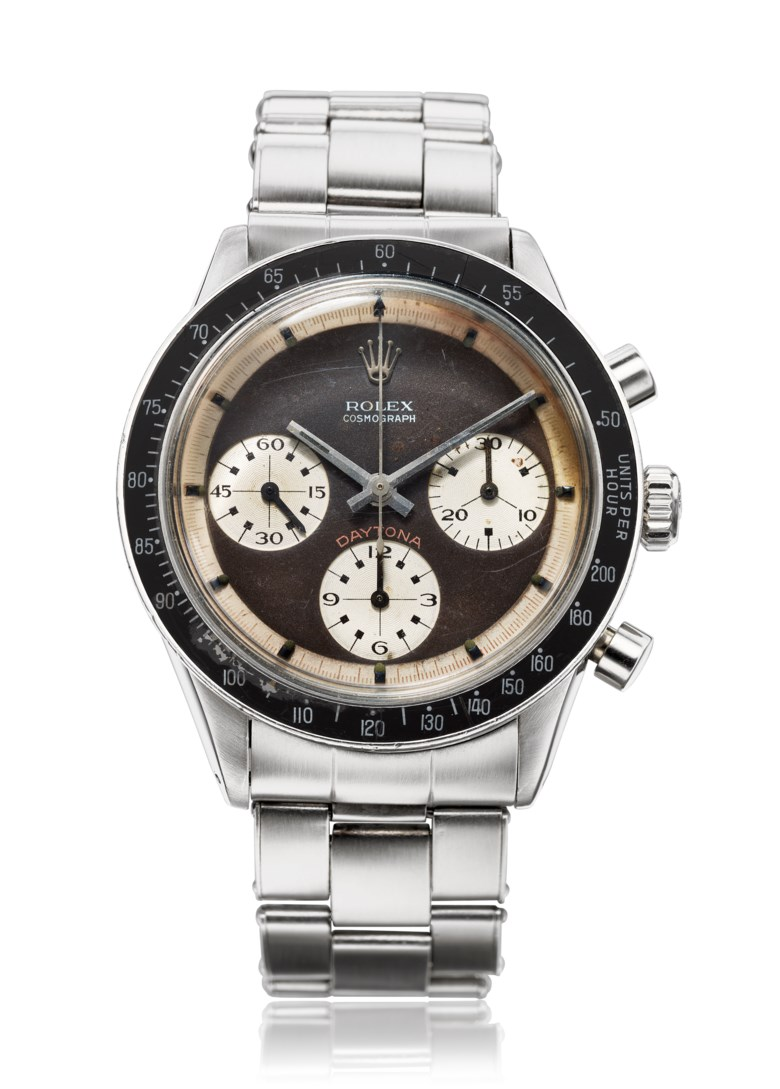 Rolex, 'tropical' Paul Newman Daytona, ref. 6241. Estimate $140,000-180,000. Offered in Christie's Watches Online The Keystone Collection, 30 July to 13 August 2019, Online