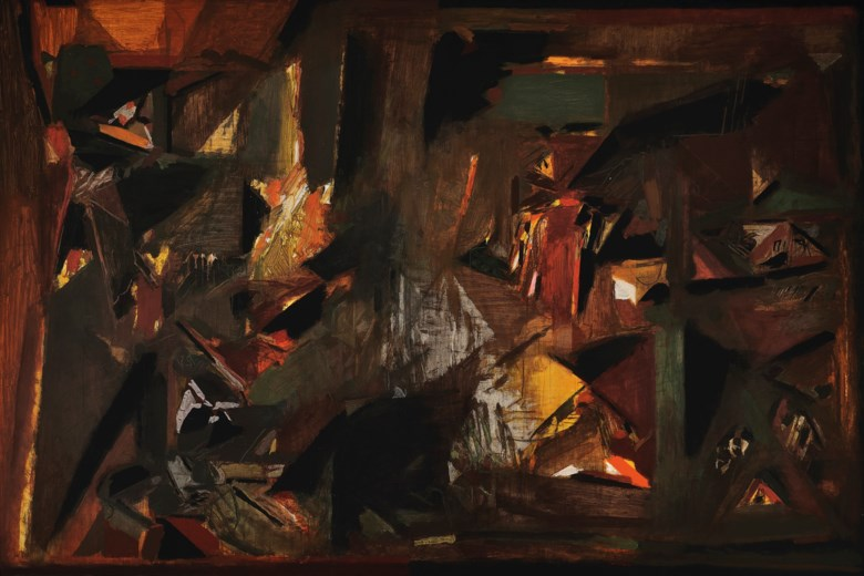 Sayed Haider Raza (1922-2016), La Terre, painted in 1977. 68½ x 102⅜  in (174 x 260  cm). Estimate on request. Offered in South Asian Modern + Contemporary Art  on 11 September 2019 at Christie's in New York