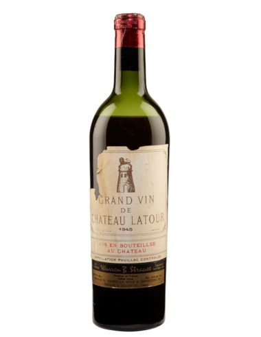 Château Latour 1945, Pauillac, 1er cru classé. Estimate $1,400-1,800. This lot is offered in  Christies Wine OnlineNYC, 16-30 July 2019, Online