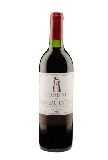 Château Latour 1982, Pauillac, 1er cru classé. 3 bottles per lot. Estimate $3,000-4,500. Offered in Christies Wine OnlineNYC, 16-30 July 2019, Online