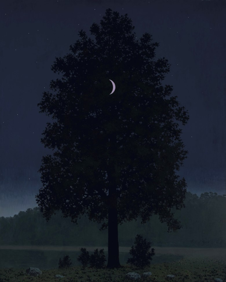 René Magritte (1898-1967), Le seize septembre, painted in 1957. Oil on canvas. 63¾ x 51½  in (162 x 130.2  cm). Sold for $19,570,000 on 11 November 2019 at Christie's in New York
