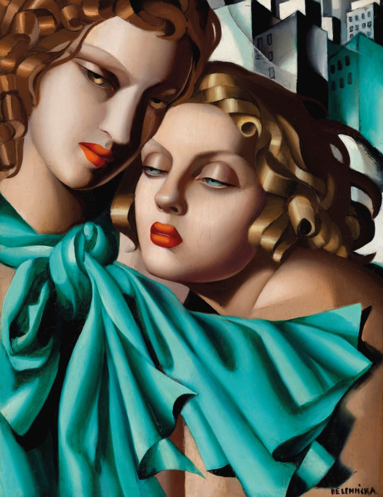 Tamara de Lempicka (1898-1980), Les jeunes filles, circa 1930. Oil on panel. 13¾ x 10⅝  in (35 x 27  cm). Sold for $5,269,000 on 11 November 2019 at Christie's in New York. Artwork © Tamara de Lempicka Estate, LLC  ADAGP, Paris and DACS, London 2020