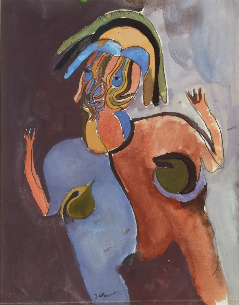 Francisco Toledo (1940-2019), Untitled (double-sided work). Gouache on paper, 12 x 9½  in (30.5 x 24.1  cm). Estimate $15,000-20,000. Offered in Latin American Art on 20-21 November 2019 at Christie's in New York