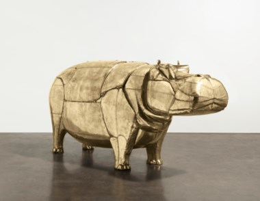 François-Xavier Lalanne (1927-2008), unique Hippopotame I bathtub, conceived in 1968, executed in 1969. 50½ x 114 x 33  in (128.3 x 289.6 x 83.8  cm), closed. Sold for $4,335,000 on 12 November 2019 at Christie's in New York. Les Lalanne © 2020 Artist Rights Society (ARS), New York NYADAGP Paris