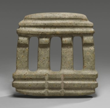 Fine Mezcala temple, Pre-Classic, circa 300-100 BC. Height 5½ in (14 cm). Sold for €25,000 on 9 April 2019 at Christie's in Paris