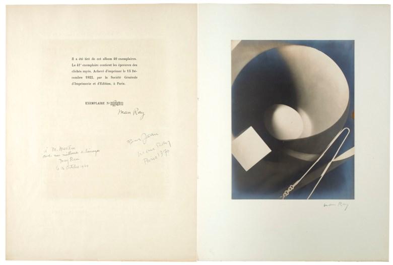 Man Ray (1890-1976), Champs délicieux, 1922. Sold for €346,000 in Bibliothèque Paul Destribats — 1ère partie,3-5 July 2019 at Christie's in Paris