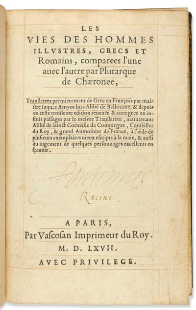 PLUTARQUE (ca 46-125). Les Vie