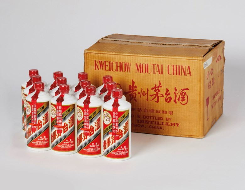 FeiTian Maotai  1977, 12 bottles (540ml) per lot. Estimate CNY 700,000-1,200,000. Offered in The Spirit Of China - Kweichow Moutai on 21 September 2019 at Christie's in Shanghai