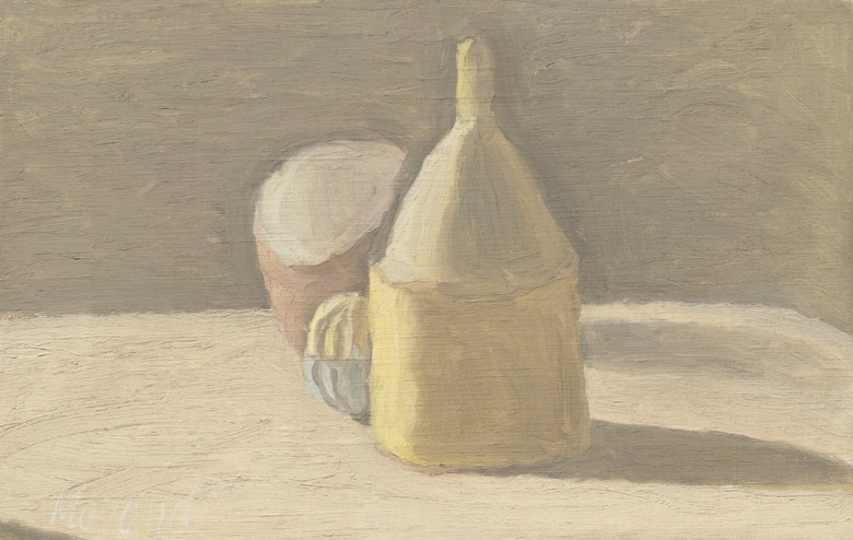 Giorgio Morandi (1890-1964), Natura morta, painted in 1950. Oil on canvas. 8¾ x 13⅞  in (22.2 x 35.2  cm). Estimate £500,000-700,000. Offered in Impressionist and Modern Art Evening Sale on 5 February 2020 at Christie's in London