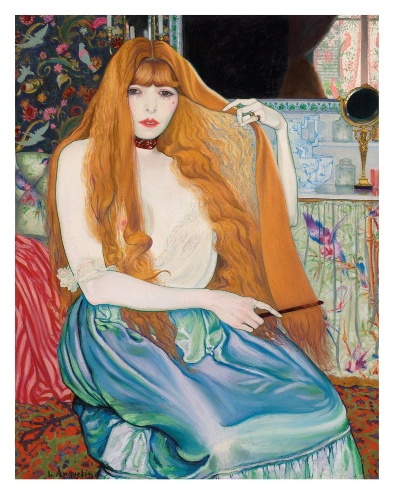 Louis Anquetin (1861-1932), Femme à sa toilette, painted in 1889. Oil on canvas. 36¼ x 28¾  in (92 x 73  cm). Sold for £1,331,250on 5 February 2020 at Christie's in London