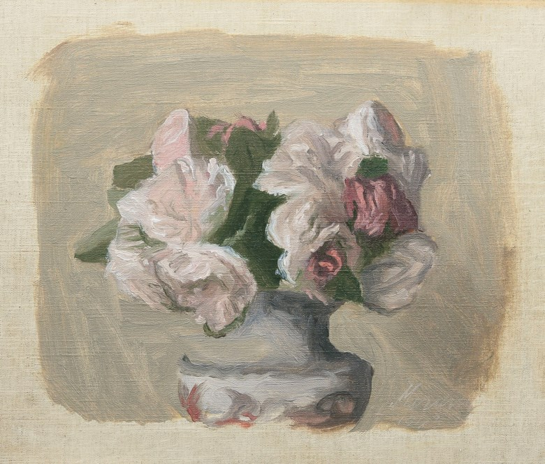 Giorgio Morandi (1890-1964), Fiori, painted in 1943. Oil on canvas 10 x 12 in (25.5 x 30.5  cm). Estimate £160,000-260,000. Offered in Impressionist & Modern Art Day Sale on 6 February 2020 at Christie's in London