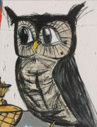 Owl with Still Life