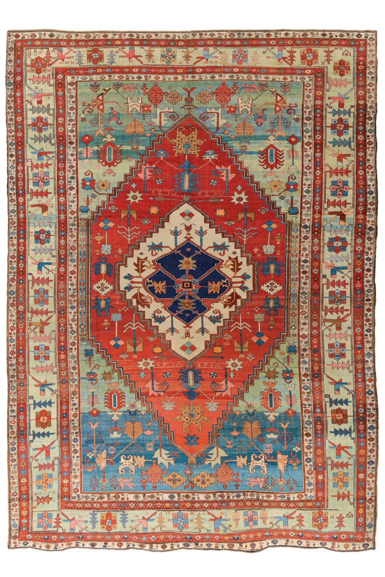 A Bakshaish carpet, west Persia, dated AH 13181900 AD. 15 ft 5 in x 11 ft 5 in (474 cm x 352 cm). Estimate £10,000-15,000. Offered in Art of the Islamic and Indian Worlds Including Oriental Rugs and Carpets on 2 April 2020 at Christie's in London