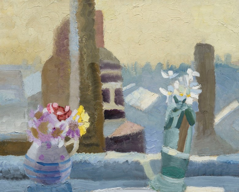 Winifred Nicholson (1893-1981), The Kings Road, 1925. Oil on canvas.16 x 20  in (41 x 50.8  cm). Estimate £40,000-60,000. Offered in The Delighted Eye Works from the Collection of Allen and Beryl Freer on 23 January 2020 at Christie's in London