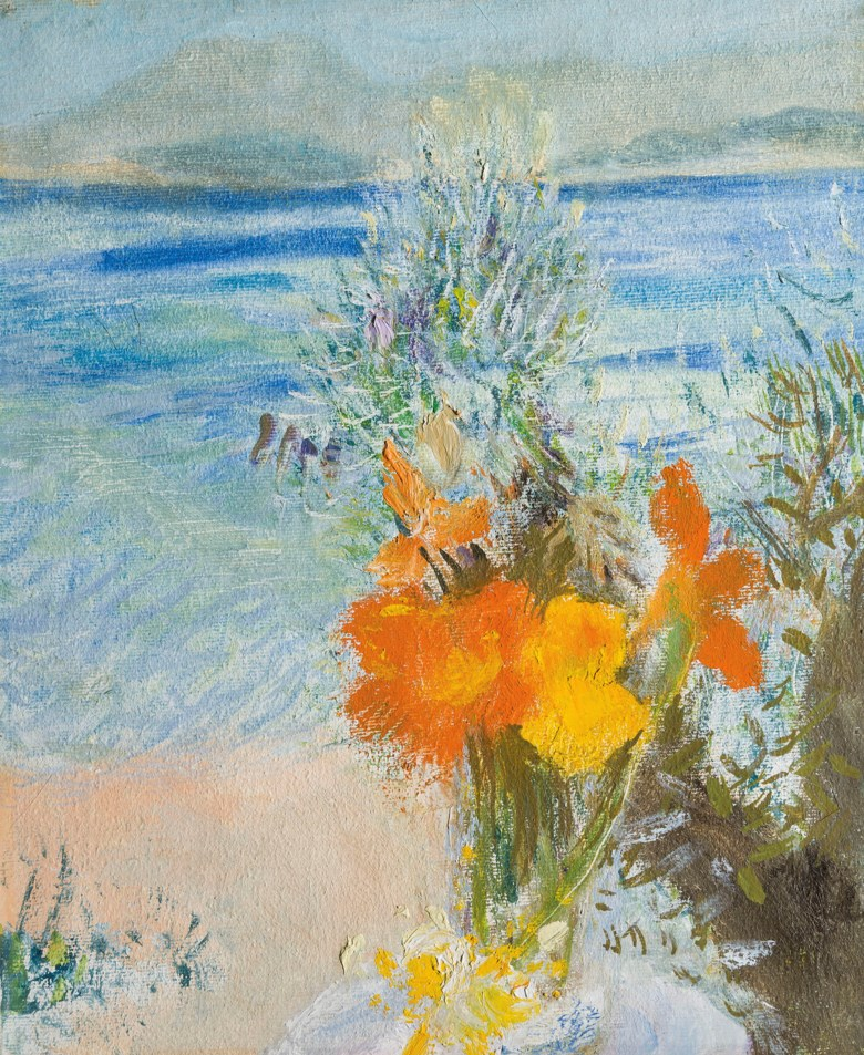 Winifred Nicholson (1893-1981), Zenia, painted in 1979. Oil on canvas.12 ¼ x 10 ¼  in (31 x 26  cm). Estimate £10,000-15,000. Offered in The Delighted Eye Works from the Collection of Allen and Beryl Freer on 23 January 2020 at Christie's in London