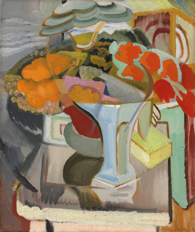 Ivon Hitchens (1893-1979), Still Life with Azaleas, 1931. Oil on canvas.24 x 20  in (61 x 50.8  cm). Estimate £120,000-180,000. Offered in The Delighted Eye Works from the Collection of Allen and Beryl Freer on 23 January 2020 at Christie's in London