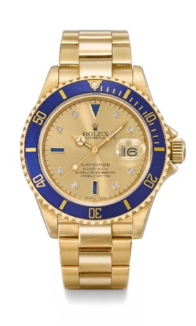 ROLEX A FINE AND ATTRACTIVE 18K GOLD AUTOMATIC WRISTWATCH WI