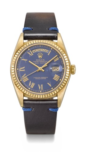 ROLEX A VERY FINE 18K GOLD AUTOMATIC WRISTWATCH WITH SWEEP C