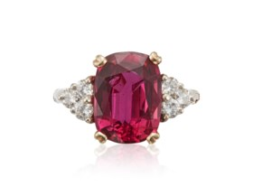 RUBY AND DIAMOND RING WITH AGL REPORT
