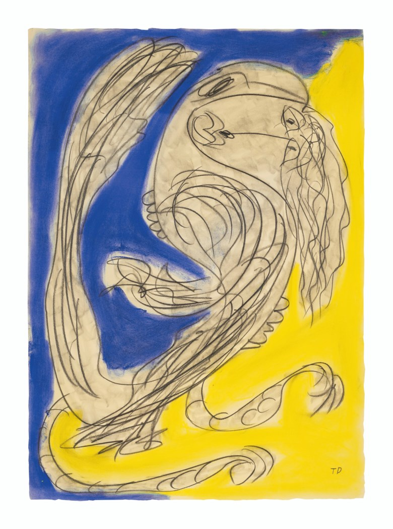 Thornton Dial (1928-2016), Holding Tight, 1994. Charcoal and pastel on paper. 41¼ x 29½ in. Estimate $4,000-8,000. Offered in Outsider Art on 17 January 2020 at Christie's in New York