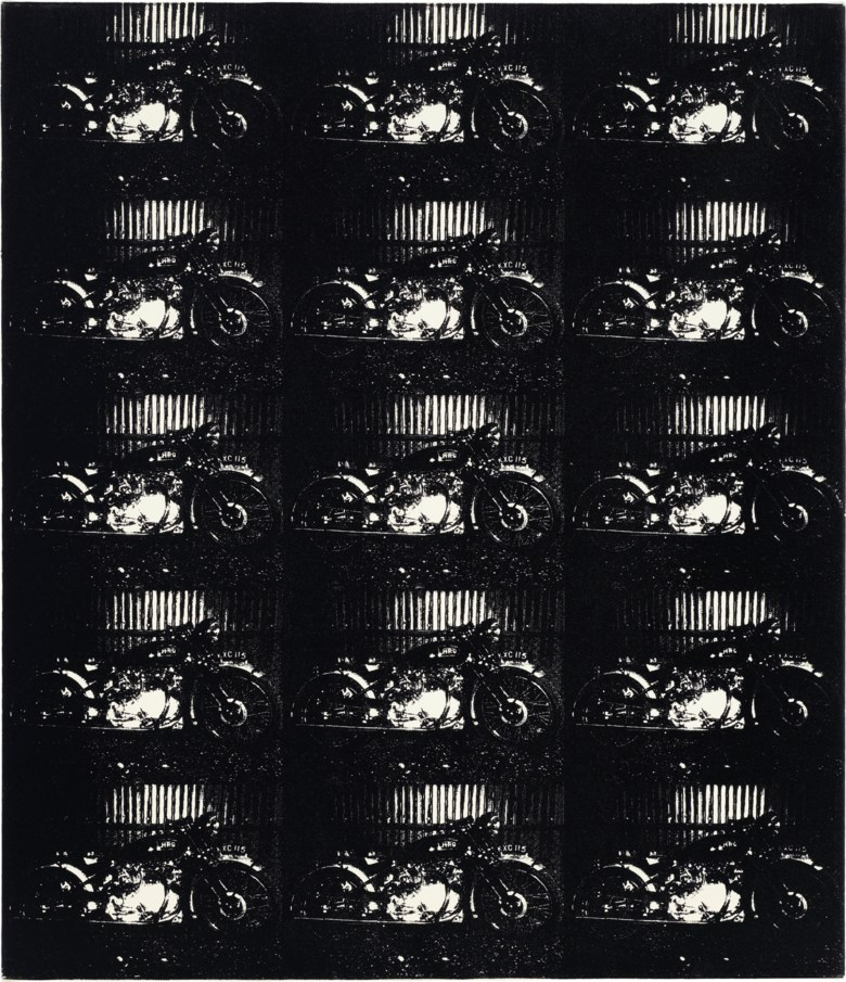 Daido Moriyama (b. 1938), Harley Davidson, 2007. Imagestretched canvas 24½ x 21¼  in (62.3 x 54  cm). Estimate $3,000-5,000. Offered in Photographs on 31 March 2020 at Christie's in New York