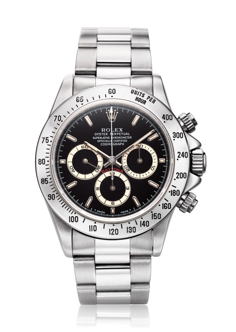 Rolex Daytona, 'Zenith', ref. 16520 with W-Serial number. Diameter 39 mm. Estimate $20,000-40,000. Offered in  Watches Online, 25 February to 10 March 2020, Online