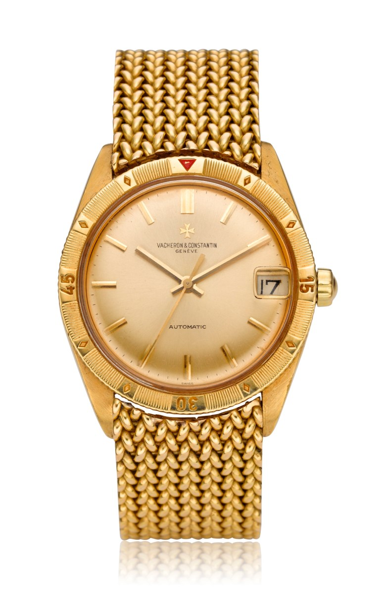 Vacheron & Constantin, 'Turnograph', 18k gold, ref. 6782. Diameter 36 mm. Estimate $12,000-18,000. Offered in  Watches Online, 25 February to 10 March 2020, Online