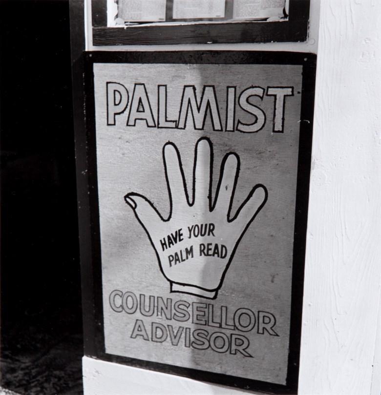 Walker Evans (1903–1975), Untitled (Palmist), 1947. Gelatin silver print, printed circa 1969 by Charles Rodemeyer. Sheet 10 x 8 in (25.5 x 20.4 cm). Estimate $5,000-7,000. Offered in                      Walker Evans An American Master                 , 21-29 April 2020, Online