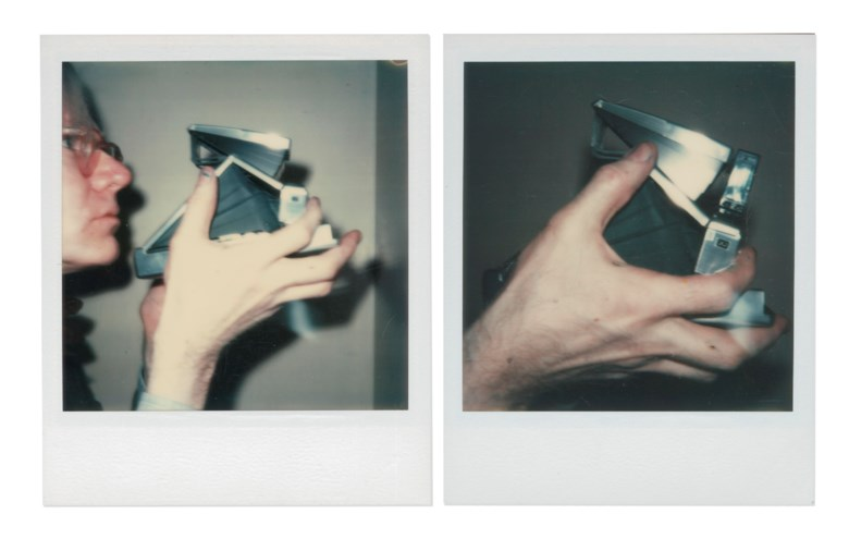 Andy Warhol (1928-1987), Self-Portrait, 1973. Two unique polaroid prints. Each 4¼ x 3½ in (10.8 x 8.9 cm). Estimate $30,000-50,000. Offered in Andy Warhol Better Days, 28 April to 6 May 2020, Online. Artwork © 2020 The Andy Warhol Foundation for the Visual Arts, Inc.