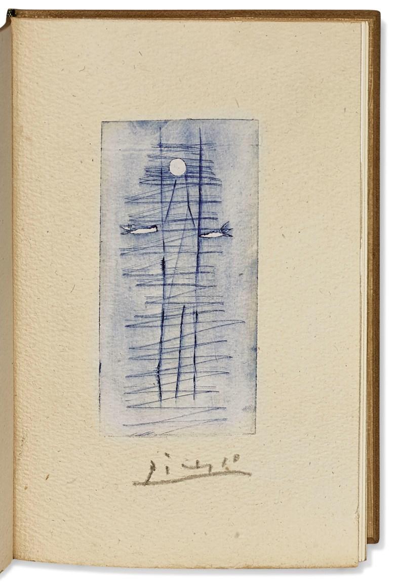 Pierre André Benoit and Pablo Picasso. Autre chose,[Alès], PAB, 1956. Estimate €8,000-12,000. Offered in Paul Destribats — Bibliothèque des avants-gardes — 2ème partie,4-6 February 2020 at Christie's in Paris