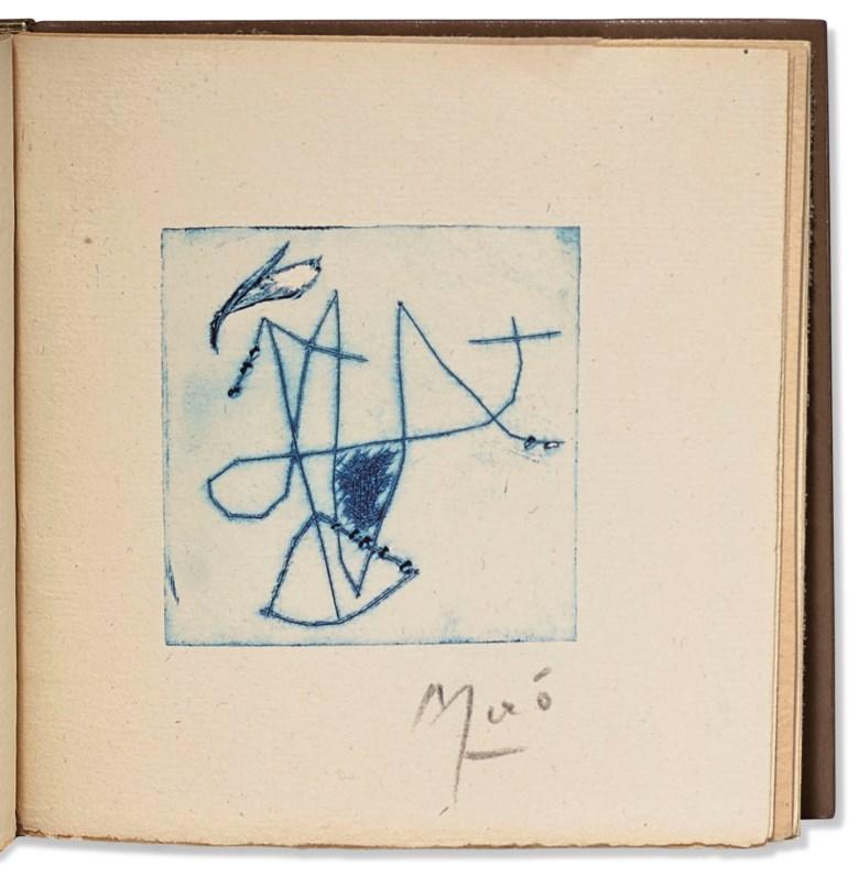 René Char and Joan Miró. De Moment en moment,[Alès], PAB, 1957. Estimate €10,000-15,000. Offered in Paul Destribats — Bibliothèque des avants-gardes — 2ème partie,4-6 February 2020 at Christie's in Paris