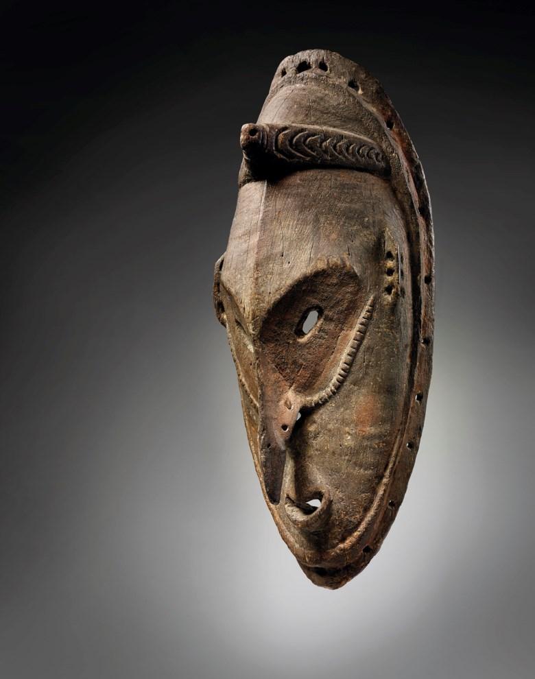 Brag Sebug mask, Murik Lagoon, lower Sepik region, Papua New Guinea. Height19½ in (49.5 cm). Estimate €40,000-60,000. Offered inAfrican, Oceanic and North American Arton 2 June 2020 at Christie's in Paris