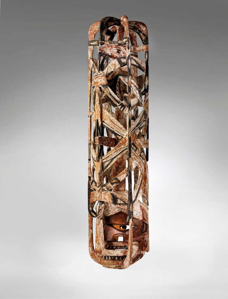 Malangan mask, New Ireland, Papua New Guinea. Height 60 in (101.5 cm). Estimate €70,000-100,000. Offered in African, Oceanic and North AmericanArt on 2 June 2020 at Christie's in Paris
